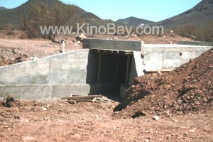 Punta chueca - kino bay - new paved road - works in advance