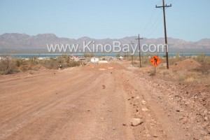 Punta chueca - kino bay - new paved road - works in advance