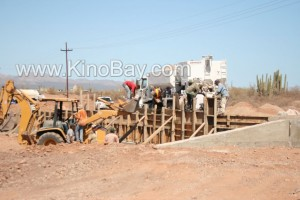 New paved road kinobay to puntachueca  - sea of cortez sonora´s costera project